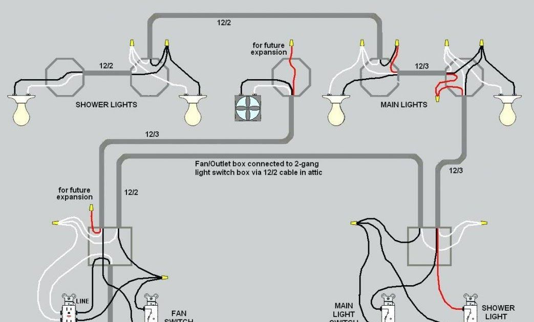 wiring lights and outlets on same circuit diagram basement a