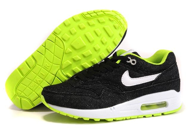Nike Air Max 1 87 Damen Running Schuhe Jean Schwarz
