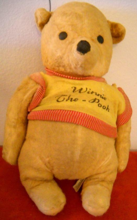 Vintage Gund Winnie The Pooh Stuffed Plush Toy 1964 Winnie The Pooh Friends Winnie The Pooh Winnie The Pooh Plush