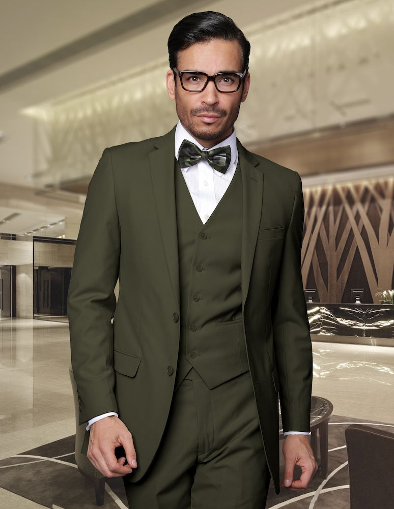 Warning :: ITALSUIT   Olive green suit, Suits men business, Green suit men