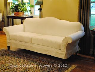 Cozy Cottage Slipcovers Camel Back Sofa