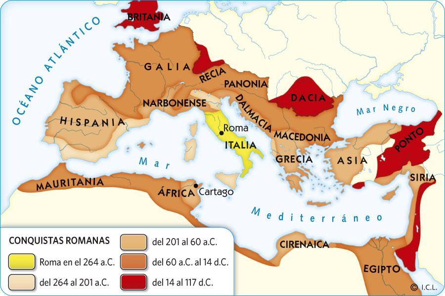 Resultado De Imagen De Mapa Republica Romana Siglo I Rome