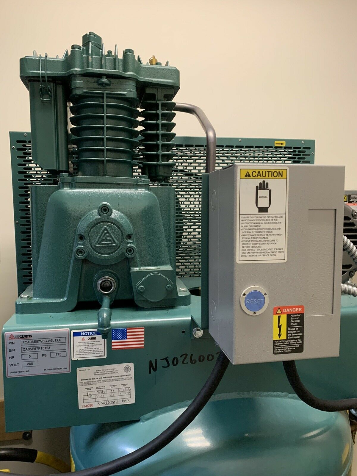 Ingersoll Rand Electric Stationary Air Compressor 5 HP