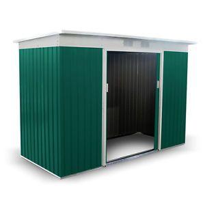 Boxer-Metal-Garden-Shed-Pent-Roof-Central-Sliding-Double-Door-Outdoor-Storage