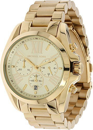 6c3a667ba593 Michael-Kors-Womens-MK5605-Bradshaw-Gold-Tone-Stainless-Steel-Watch ...
