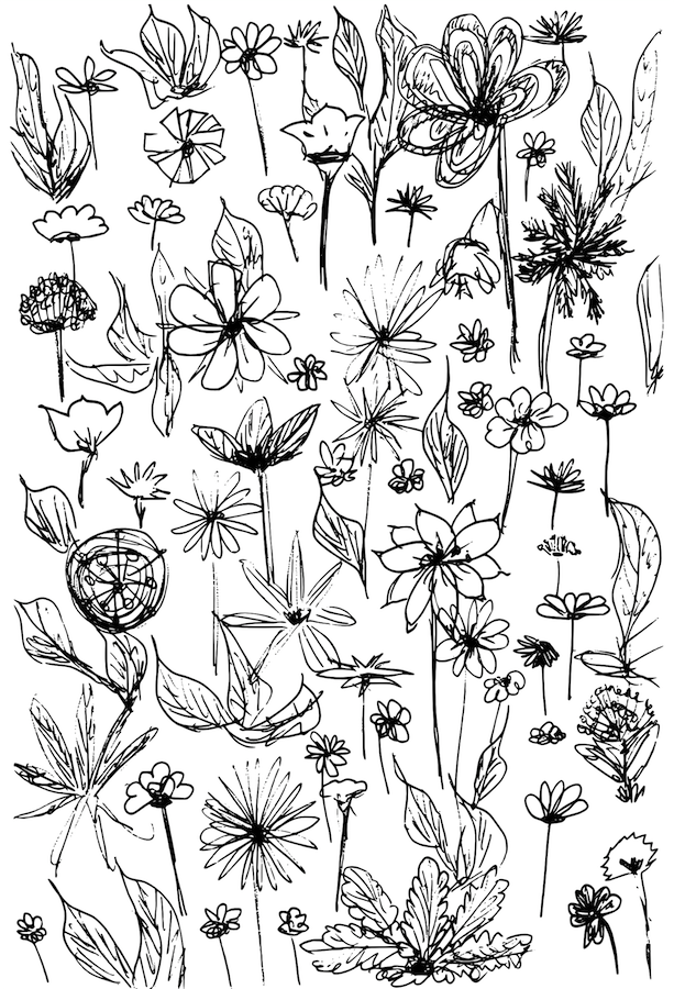 free printable flower doodle fun background & coloring page ...