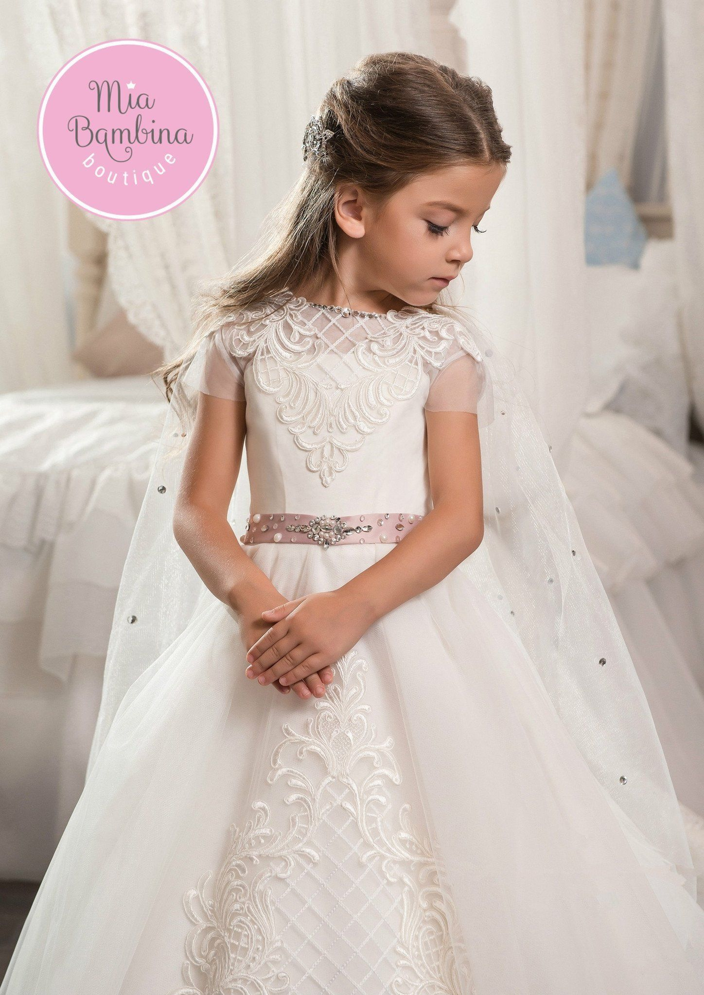 The Colorado Flower Girl Dress Is A Beautiful A Line Dress With A