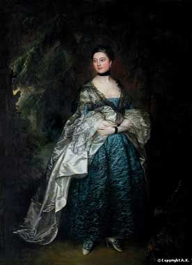 Oil Paintings Production:Gainsborough, Thomas - Lady Gertrude Alston hspace=
