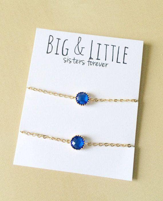 Big Little Sorority, Blue Bracelet Set, Sorority Gifts Dainty Jewelry - http://goo.gl/p2Uw4b