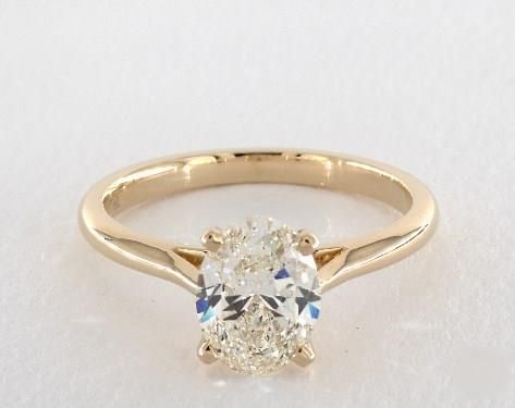 e21b0d4c2760 1.8 ct Solitaire Oval Engagement Ring Yellow Gold