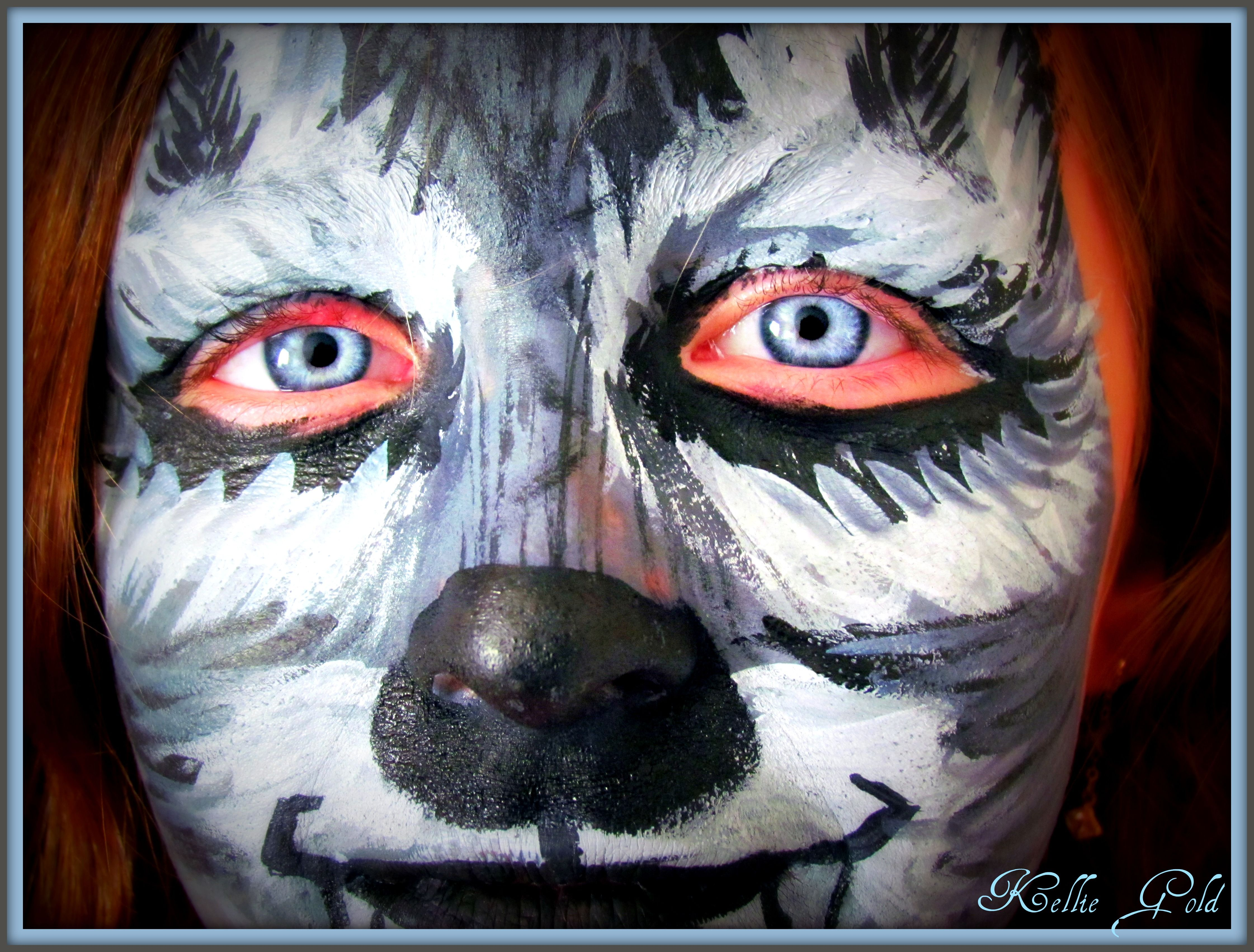 Victoria, my daughter after I painted her face like a wolf!!  She loved it! ~ Kellie Gold Photography