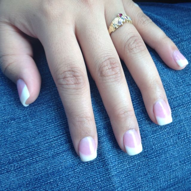 Super Cute Sport Length Fully Sculpted Acrylic Nails Oval Shape Nails Sports Nails Nail Length