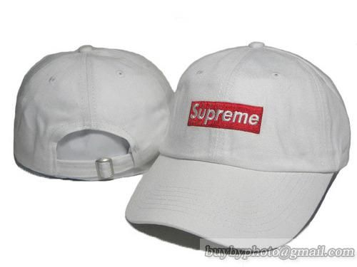 fc325e81d2df6 Supreme Baseball Caps Adjustable Hat Curved Cap White