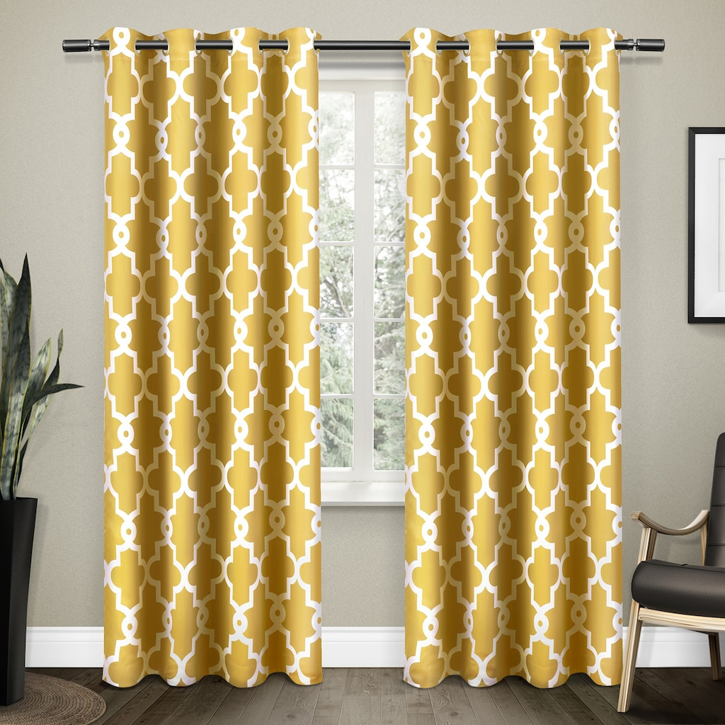 Exclusive Home 2 Pack Ironwork Sateen Woven Blackout Window