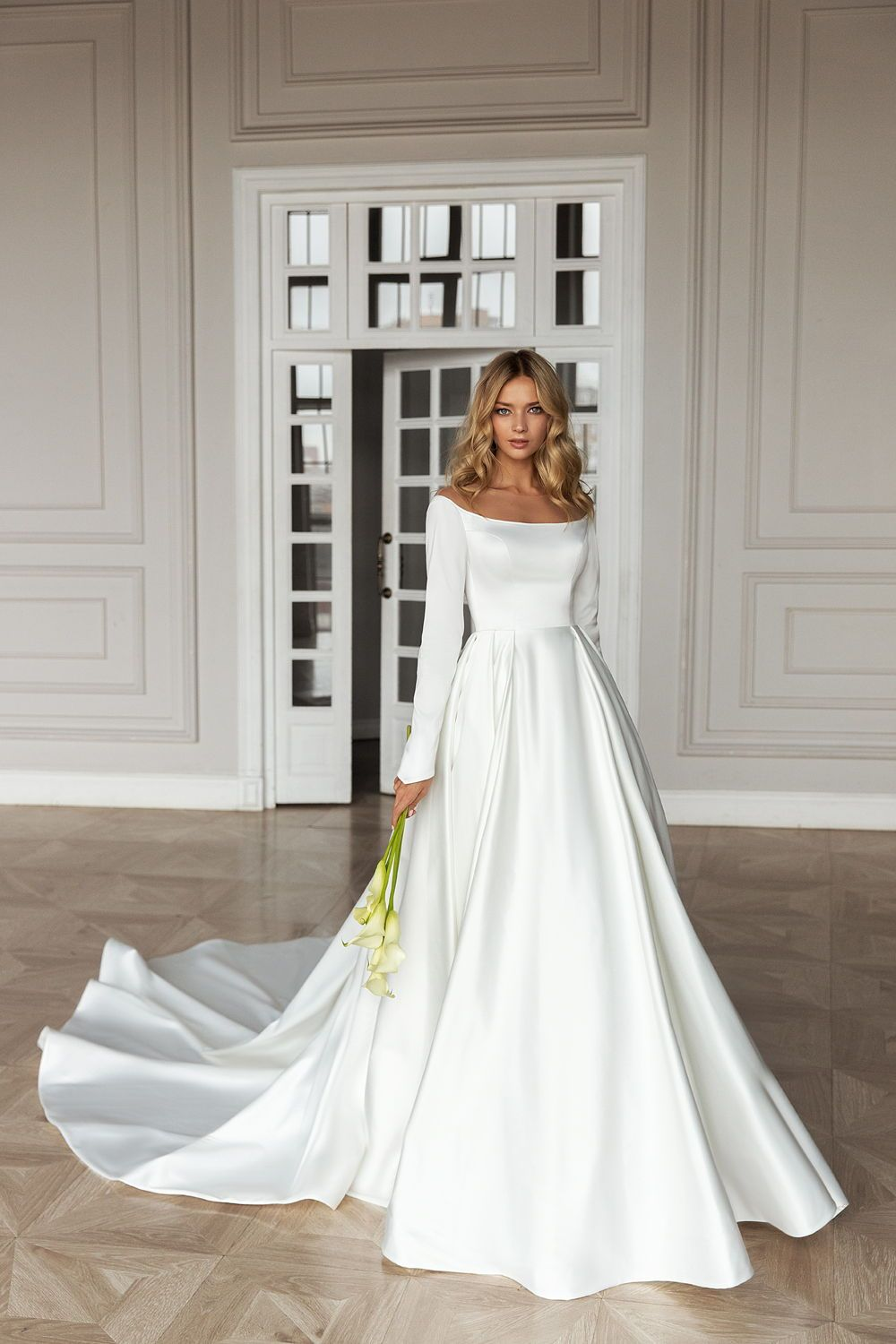 Simple But Not Basic In 2020 Silk Bridal Gown Wedding Dress Long Sleeve Modest Wedding Dresses