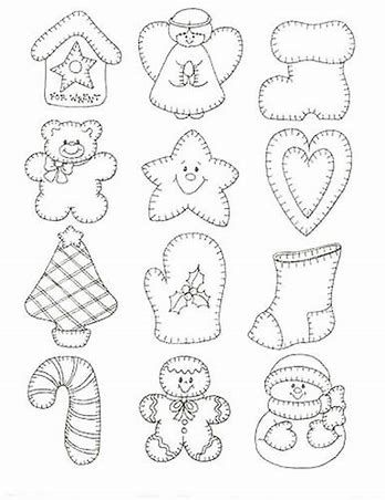 image regarding Free Printable Christmas Ornament Patterns named Impression outcome for No cost Printable Felt Xmas Ornament