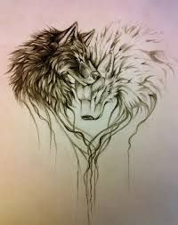 wolf leg tattoo ideas - Google Търсене