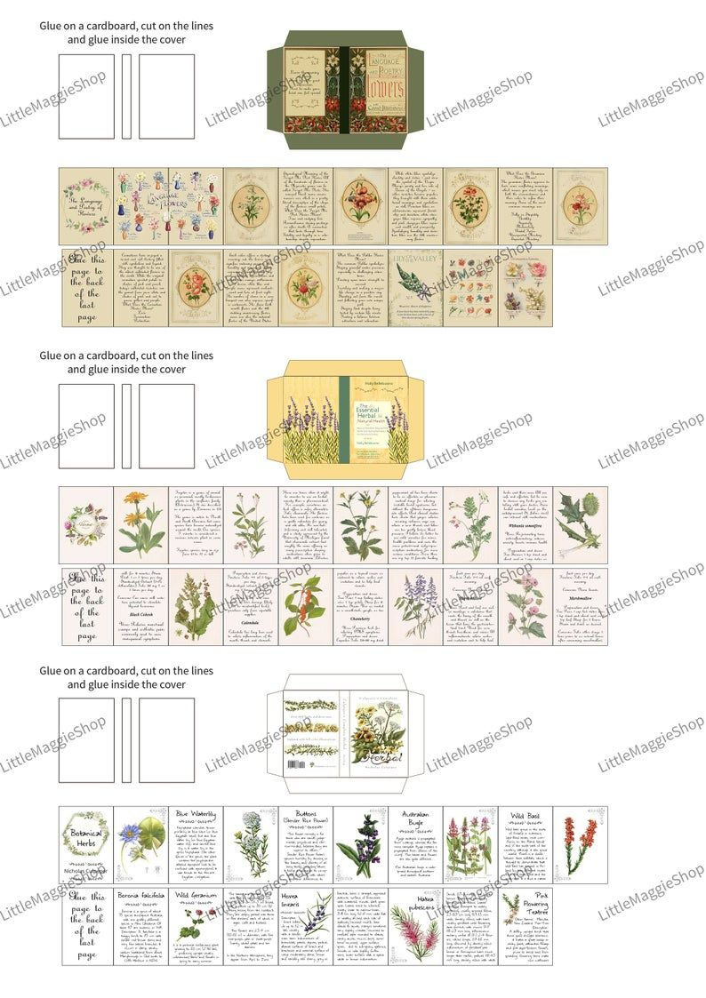 3 Printable Herbal and Flower Books with pages - The ...