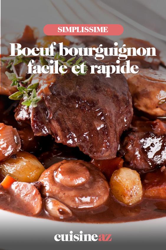 Boeuf Bourguignon Facile Et Rapide