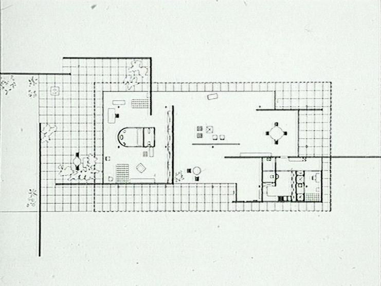 mies van der rohe house for a childless couple at the building exposition berlin 1931. Black Bedroom Furniture Sets. Home Design Ideas