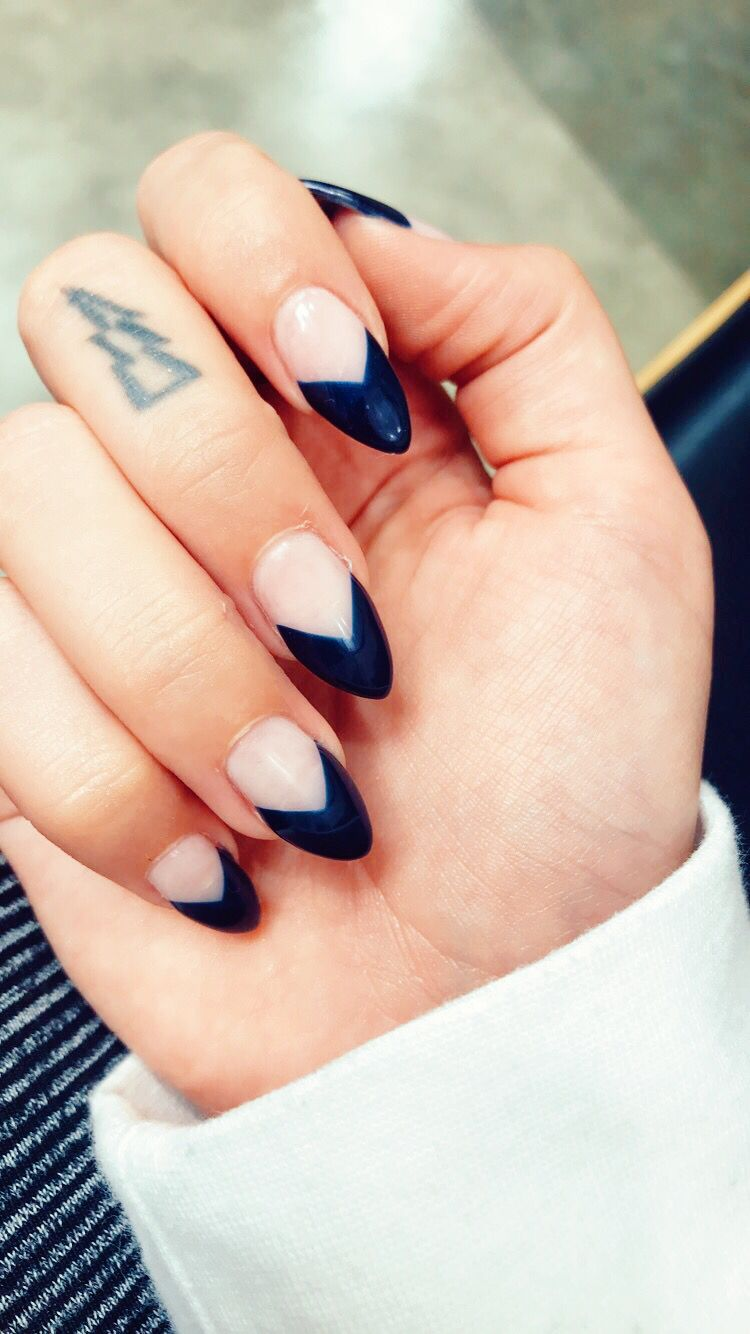 black french manicure nail designs , Doha