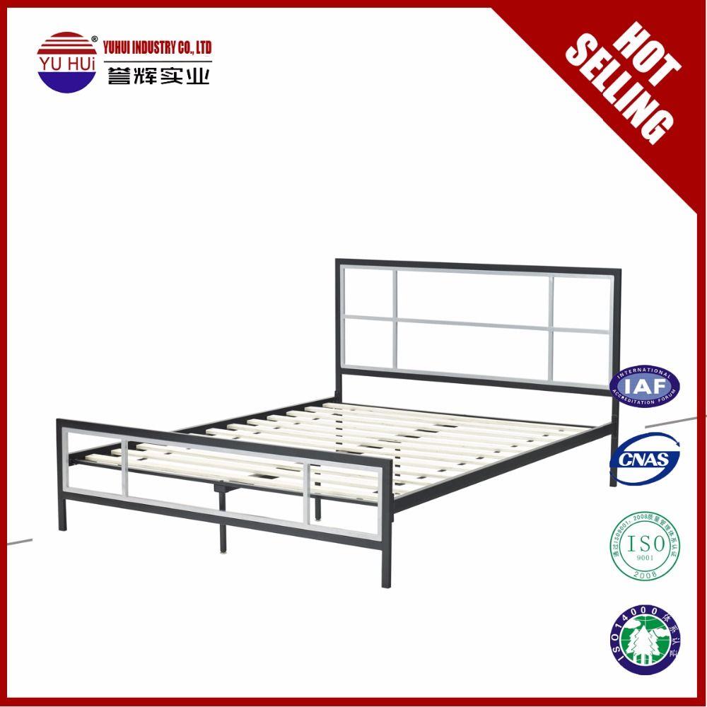 Fabrica de producción moderna cama de metal barato cama de metal ...