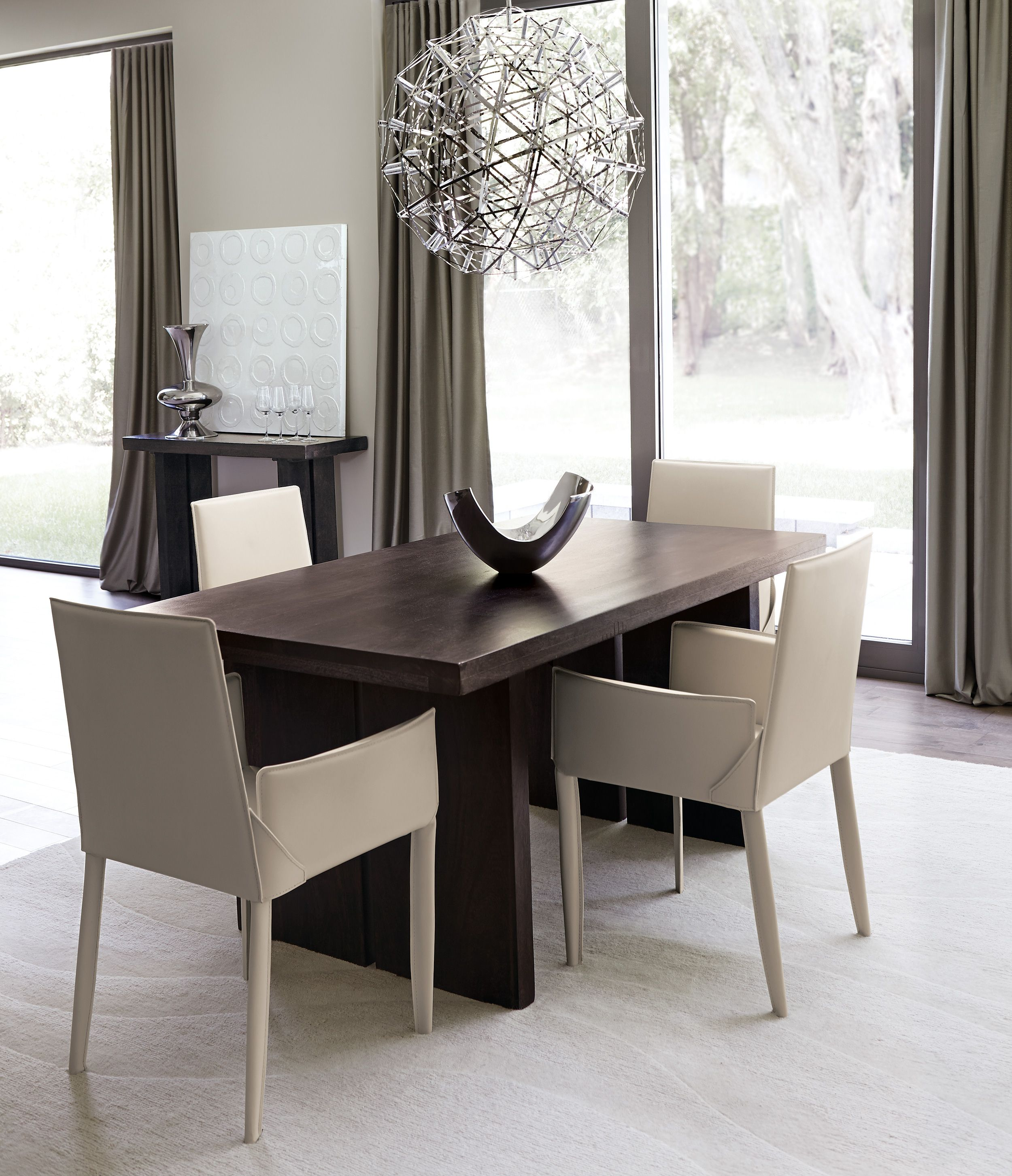 Contempo Dining Room Decor Leather dining, Home decor