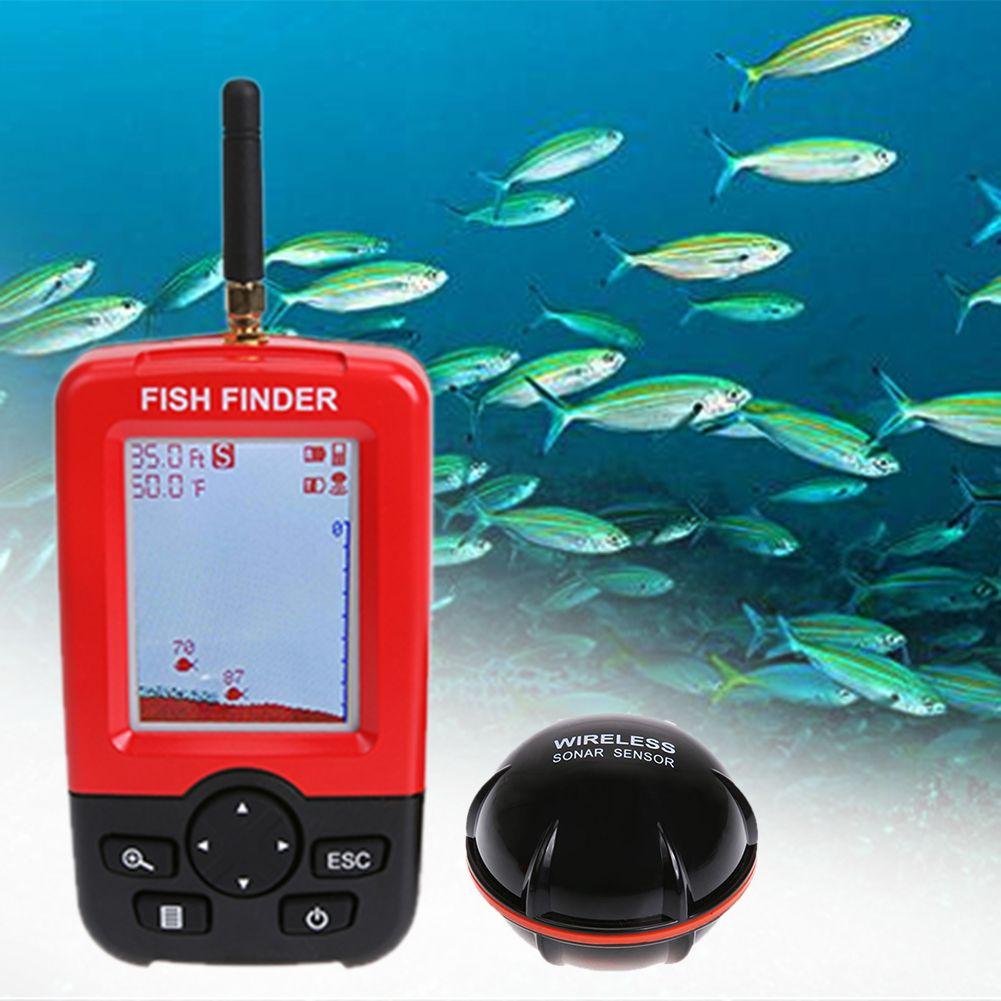 Color LCD Wireless Sonar Sensor Fish Finder Portable Wireless Receiver Wireless Sonar Transducer Fish Alarm Depth Locator  #Affiliate