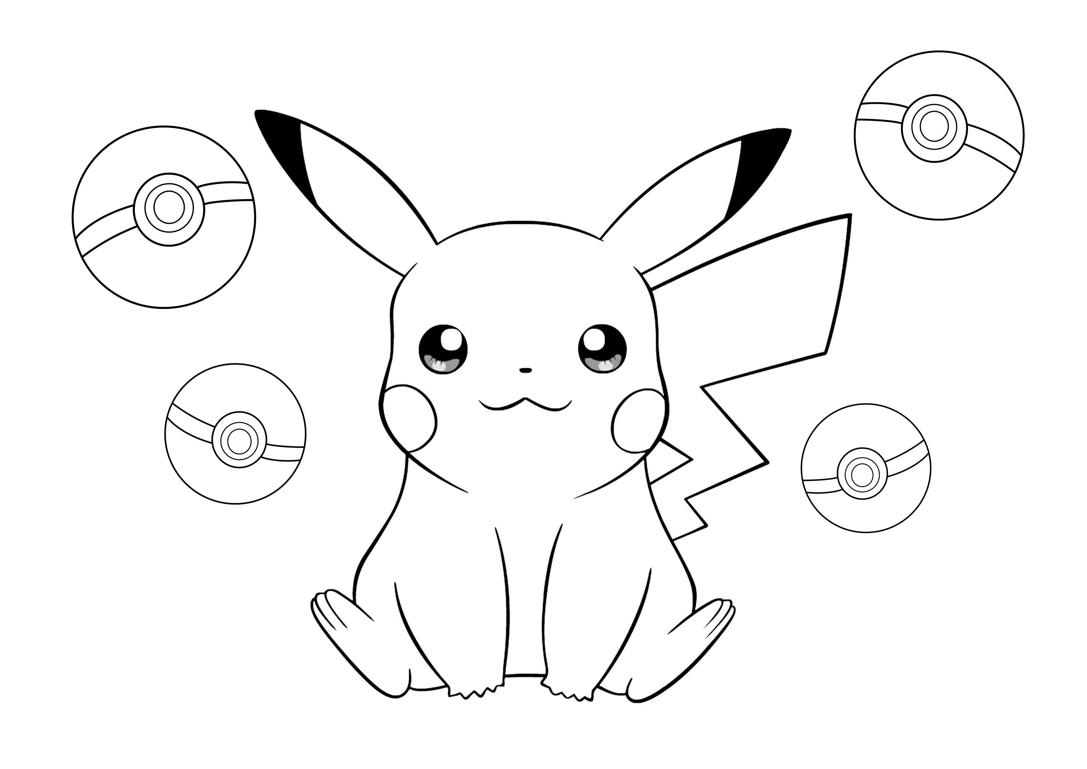 Immagini Pokemon Da Colorare.Pokemon Pikachu Disegni Da Colorare Coloring Pages Pikachu