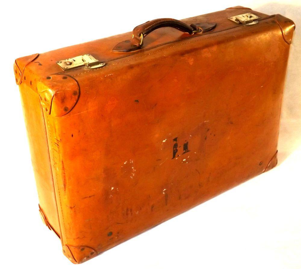 Early1900s A.W.Dear-Knightsbridge-London-Fitted Leather Suitcase-Brass Locks