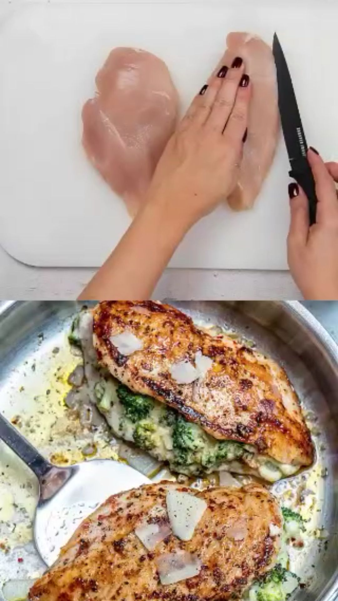 CHEESE BROCCOLI STUFFED CHICKEN BREAST. (Low-Carb)