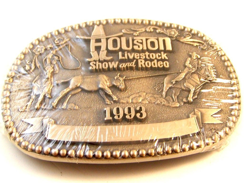 Houston Livestock Show and Rodeo Belt Buckle   MY HOMETOWN-HOUSTON ... 8ddf9cc97a8