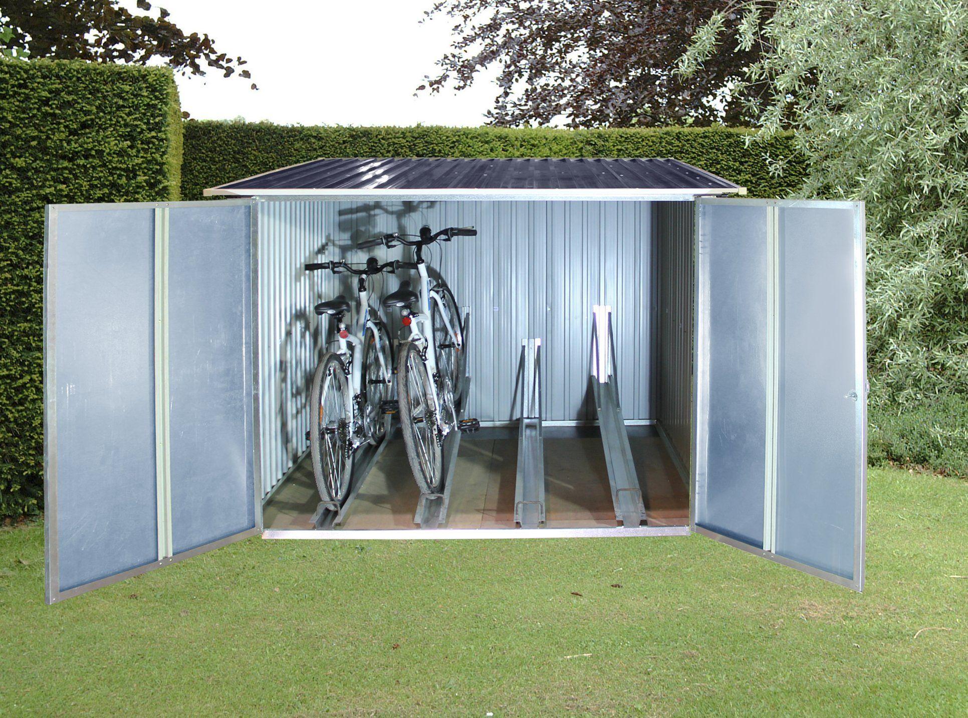 tepro 7165 fahrradbox für bis zu 4 fahrräder | fahrradbox