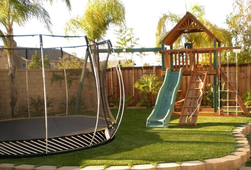 Playground sets for small backyard landscaping ideas kids friendly – Fun Backyard Ideas for Kids