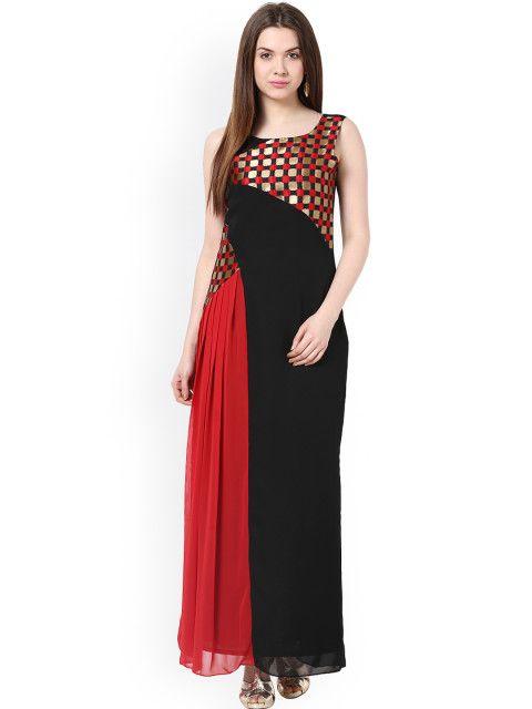 Buy Athena Black Red Maxi Dress