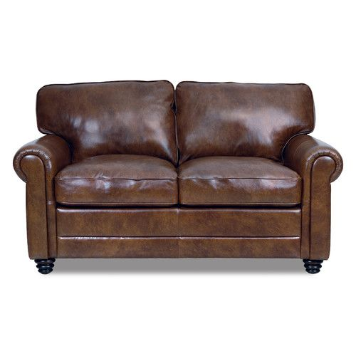 Outstanding Lambdin Leather Loveseat In 2019 Living Room Makeover Machost Co Dining Chair Design Ideas Machostcouk