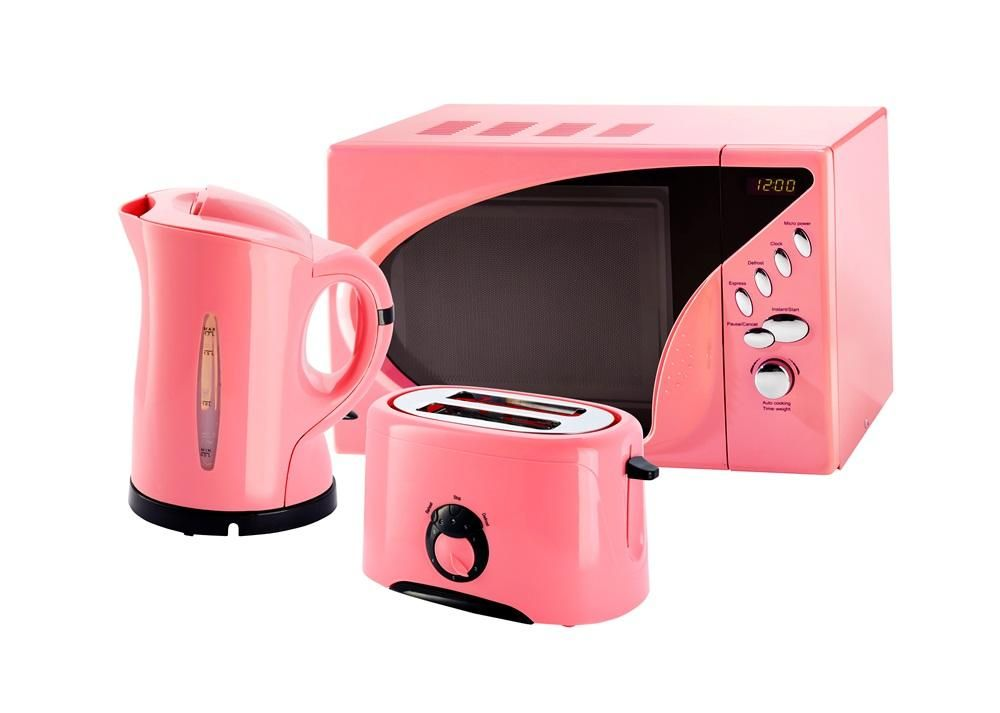 Pink Microwave Toaster And Kettle Set From Www Pink