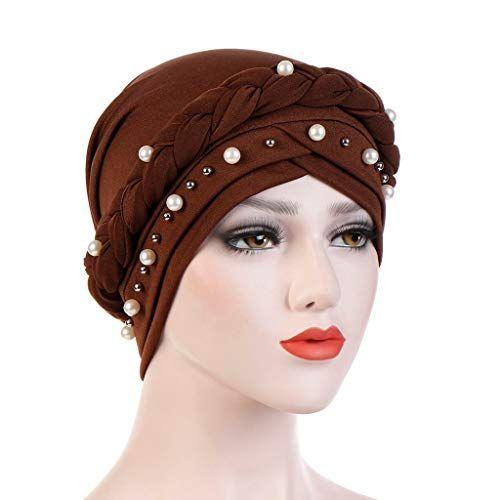 Women Fashion Headwrap Milksilk Flower Headband Turban Hat Muslim Style