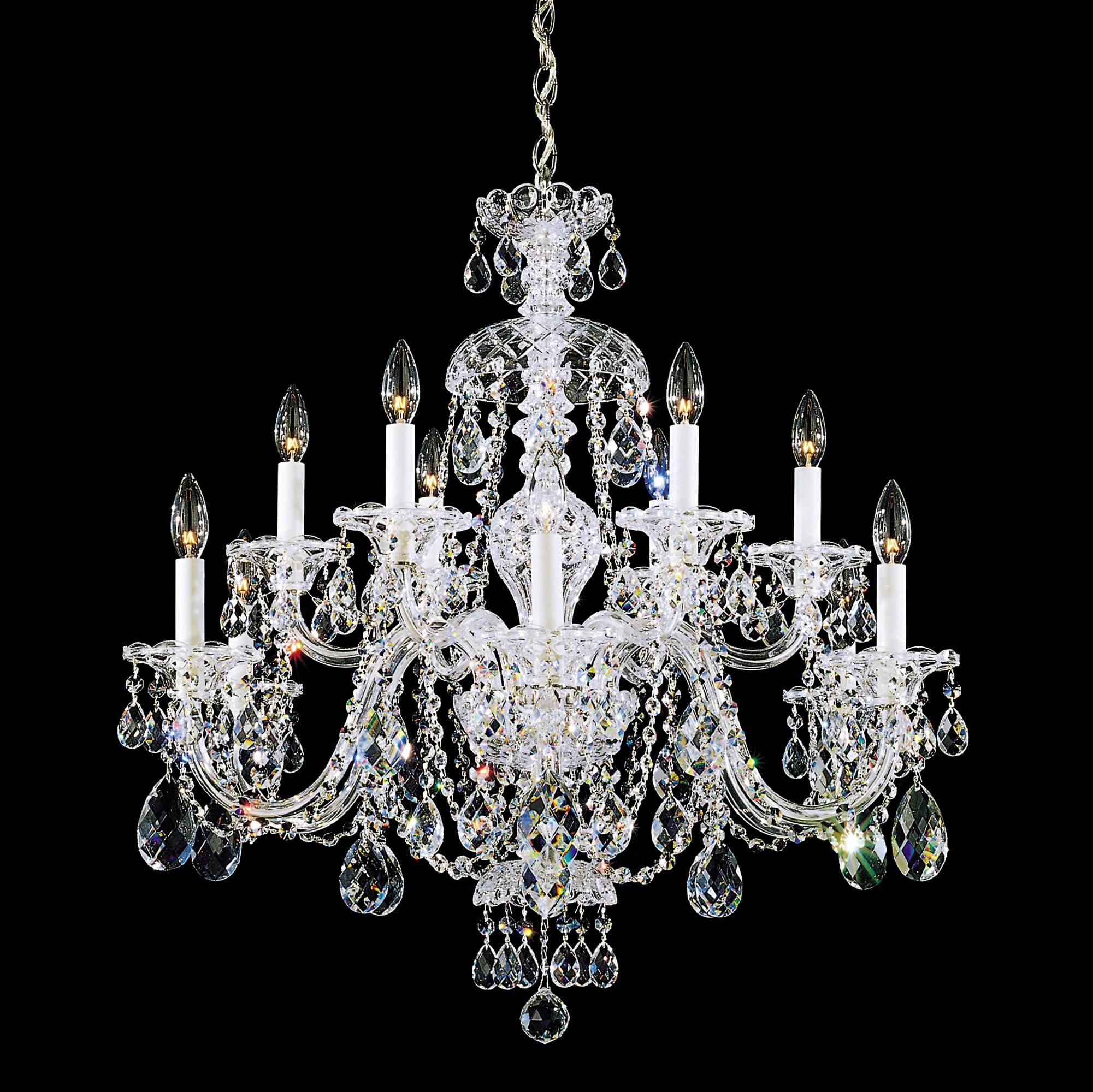 Schonbek sterling 29w swarovski crystal 12 light chandelier schonbek sterling 29w swarovski crystal 12 light chandelier m9982 lamps plus arubaitofo Images