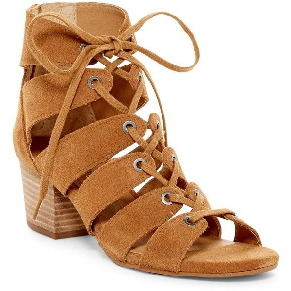 Lucky Brand Genevie Cage Sandal ($70) ❤ liked on Polyvore featuring shoes,  sandals