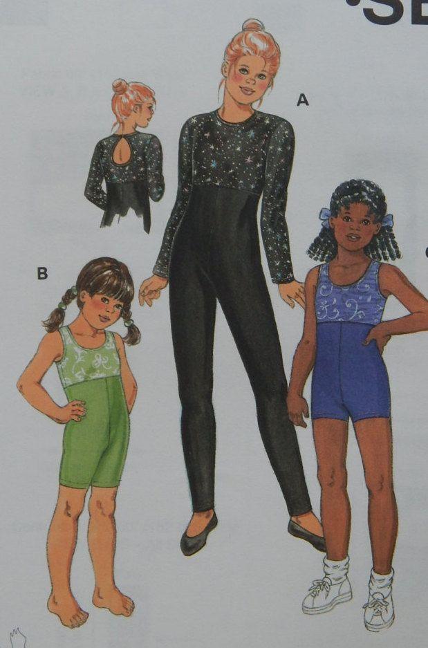 Unitards Sewing Pattern/ Kwik Sew 2852/Girls Size 4-5-6-7/empire ...