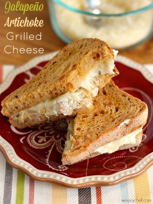 Gluten Free Jalapeño Artichoke Dip Grilled Cheese Sandwich #makethatsandwich