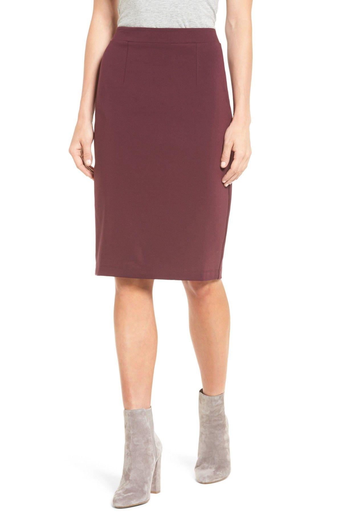 cba194990 Halogen(R) Ponte Pencil Skirt (Regular & Petite) | Products | Pencil ...