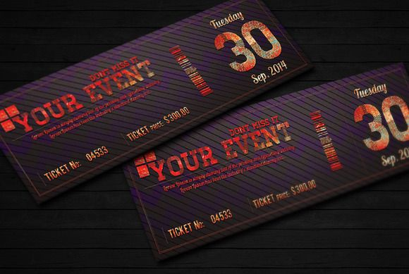 Elegant event ticket 02 | Event ticket