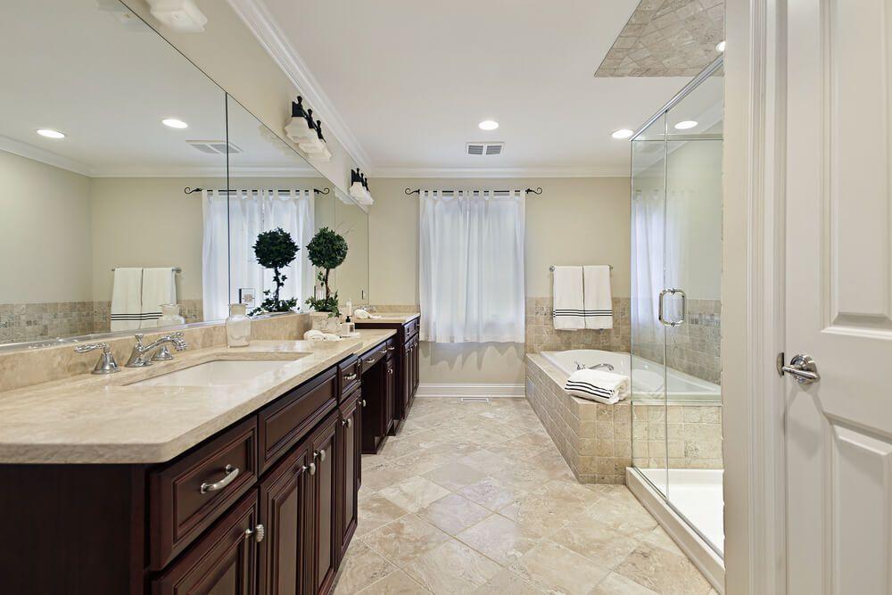 33 Elegant White Primary Bathroom Ideas 2020 Photos Beige