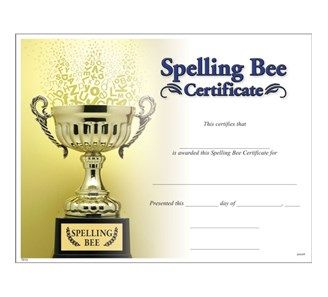 Spelling bee certificate jones school supply templates spelling bee certificate jones school supply yelopaper Gallery