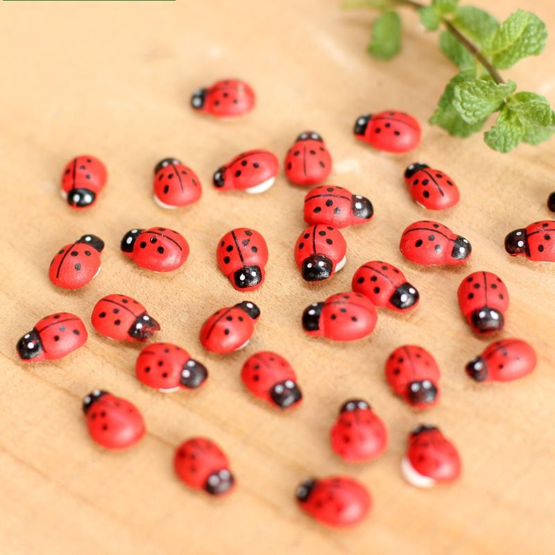 10pcs Creative Colorful Foam Ladybird Shape Craft Stickers for Kid Crafting