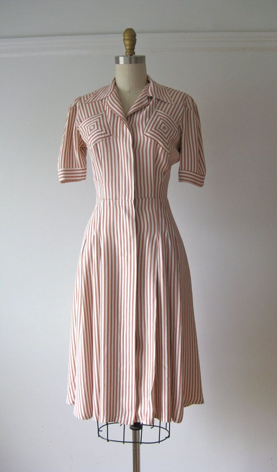 vintage 1940s dress / 40 dress / Ginger Swing