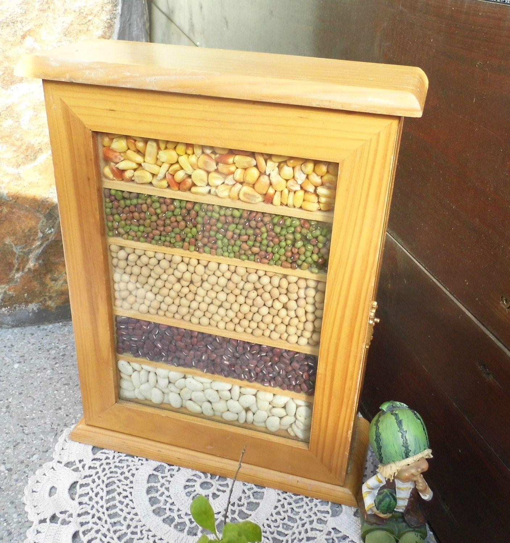 Rustic Wooden Box Keepsake Key Holder Treasure Chest Jewelry Kitchen ...