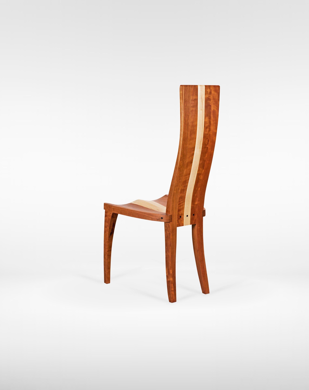 Wood Dining Chair Scandinavian Dining Chair High Back In Walnut